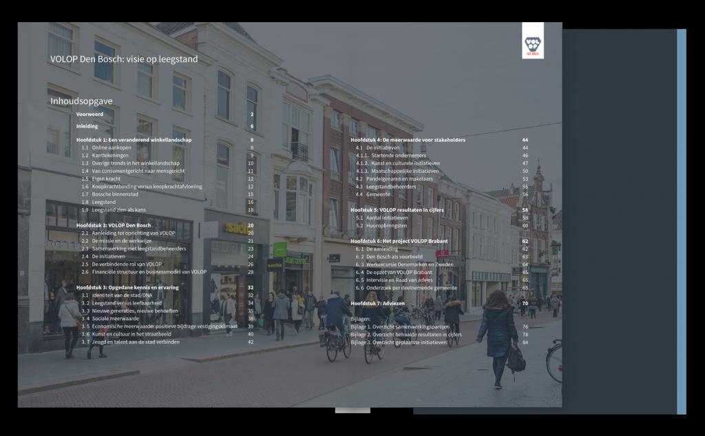 Brochure Volop Den Bosch - Inhouds opgave ontwerp