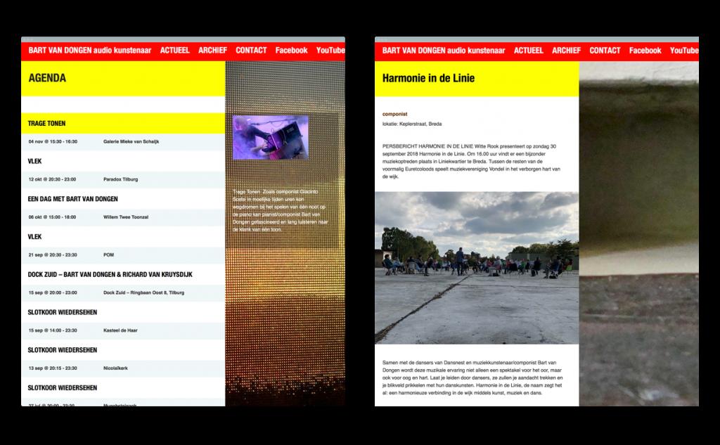 website Bart van Dongen