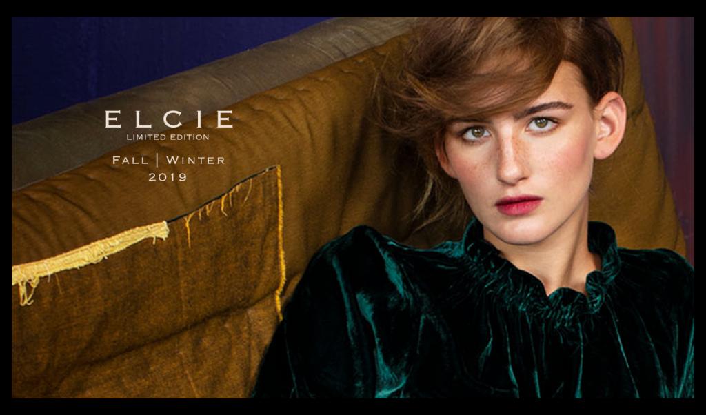 Campagne GHDesigns ELCIE Limited Edition. Fotomodel op de bank.