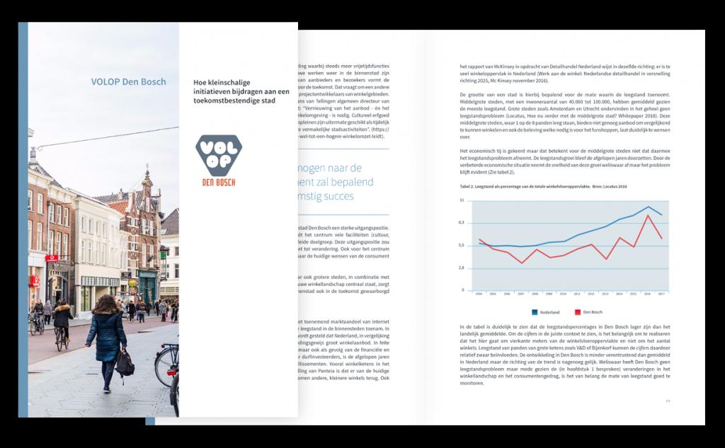 Brochure Volop Den Bosch - Cover en pagina layout