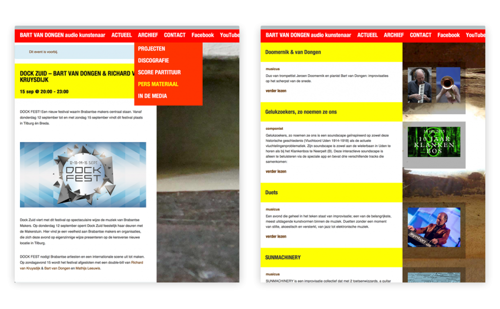 website Bart van Dongen